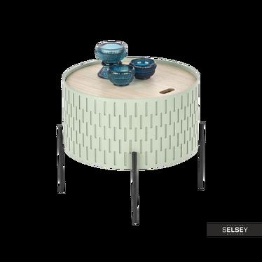 SYMPHONY Table basse avec rangement Ø 35 cm verte