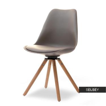 LUIS ROT Chaise pivotante brune