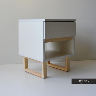 SCANDINAVIA Table de chevet avec tiroir et étagère