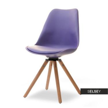 LUIS ROT Chaise pivotante violette