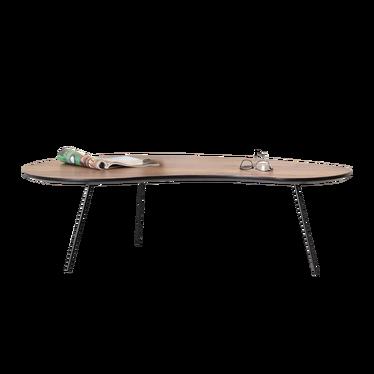 SINUS Table basse vintage noyer / noir