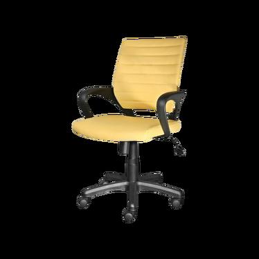 ARNUM Fauteuil de bureau jaune