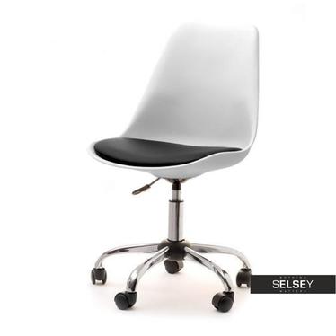 LOUIS MOVE Chaise de bureau blanc / noir