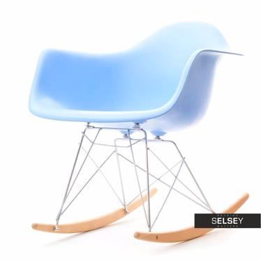 MPA ROC Fauteuil à bascule design bleu ciel