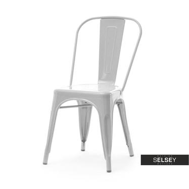 ALFREDO 1 Chaise en métal grise