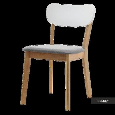 AMADO Chaise minimaliste chêne / blanc