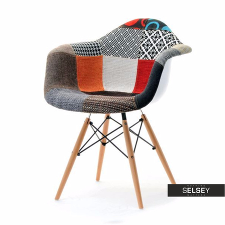 MPA WOOD TAP Chaise salle à manger patchwork