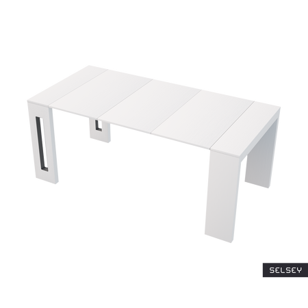 table extensible italienne roma blanc 80 90 cm. Black Bedroom Furniture Sets. Home Design Ideas