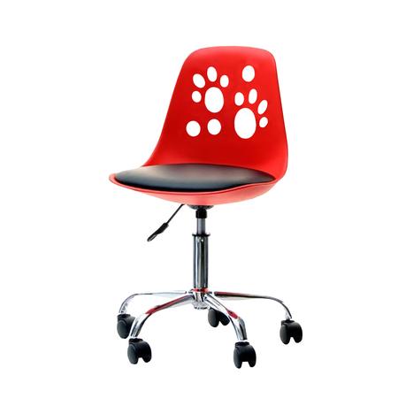 FOOT Chaise de bureau enfant rouge / noir