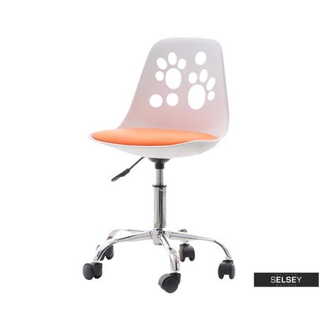 FOOT Chaise de bureau enfant blanc / orange