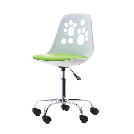 FOOT Chaise de bureau enfant blanc / vert
