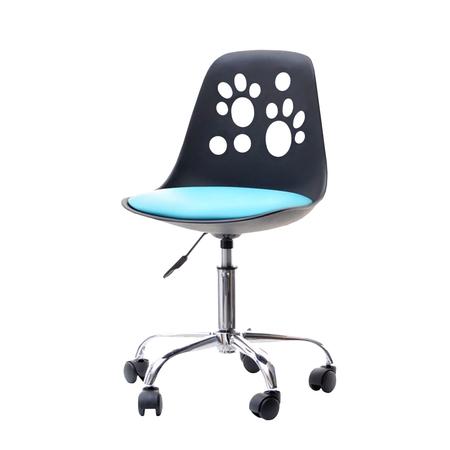 FOOT Chaise de bureau enfant noir / bleu