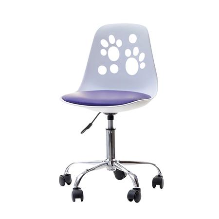 FOOT Chaise de bureau enfant blanc / violet