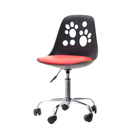 FOOT Chaise de bureau enfant noir / rouge