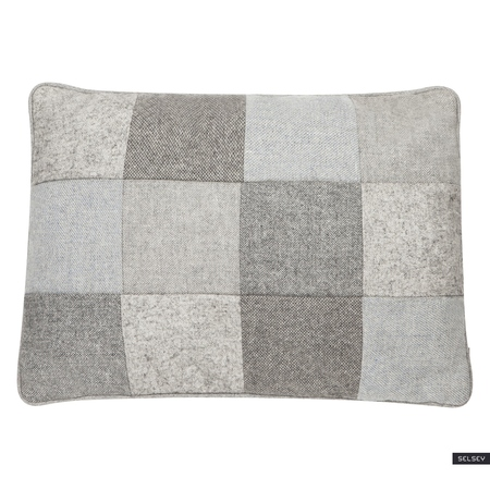 WOOL PATCHWORK Coussin 35x50 cm