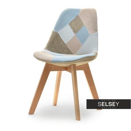 LOUIS WOOD Chaise pivotante hêtre / patchwork