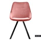 JAREL Chaise vintage en velours rose