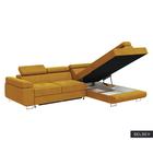 STEVIL Canapé d'angle convertible jaune miel