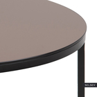 TISTON Table basse Ø 80 cm plateau en verre