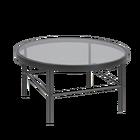 TOTTEN Table basse verre diamètre 80 cm