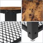 MALEK Table de café marron look usé 40x40 cm