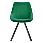 JAREL Chaise vintage en velours vert